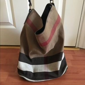 Burberry housecheck hobo with long strap